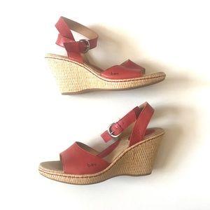 BOC Born Concept Red Wedge Sandals